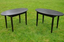 Black Oval Desks (pair)