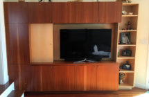 Sapele and Maple Wall Unit